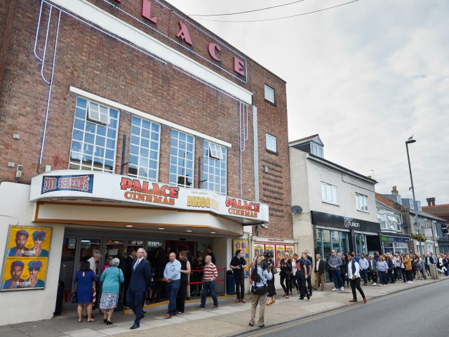 "Crowds arriving for the Gorleston premier of Danny Boyle's latest film ""Yesterday"", some of which was shot at the Pier Hotel, Gorleston."